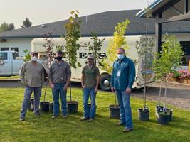 10 new trees for Morrill Rotary Park