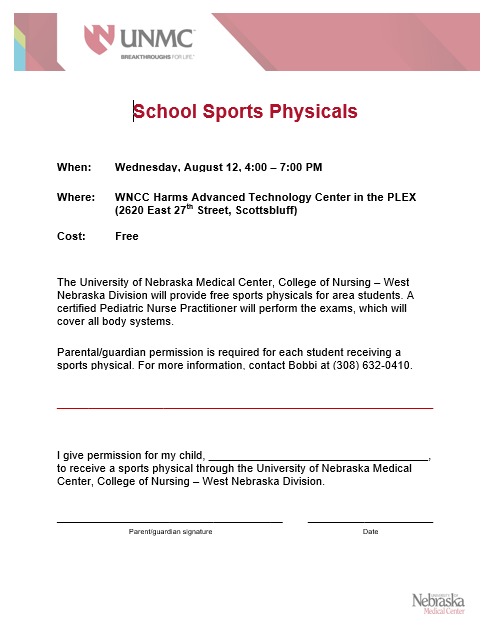 Free Sports Physical Form