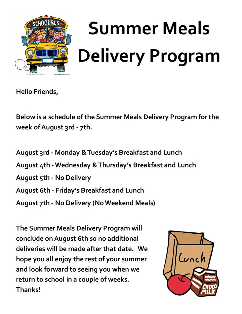 Summer Meals Delivery Program